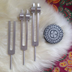Astaria Light of Sound playing Tuning Forks